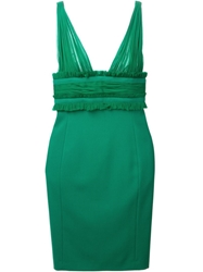 Dsquared2 Ruffle Detail Dress Green