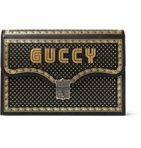 Gucci Printed Leather Portfolio Black