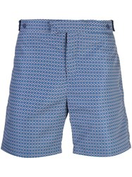 Frescobol Carioca Geometric Tailored Shorts Blue
