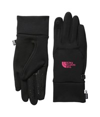 The North Face Etip Gloves Tnf Black Cerise Pink Snowboard Gloves