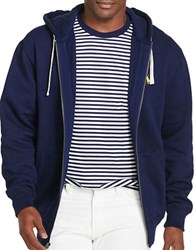 Polo Big And Tall Full Zip Fleece Hoodie Cruise Navy