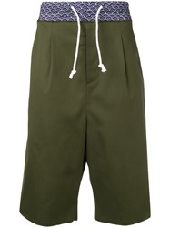 Maison Martin Margiela Elasticated Waist Shorts Green