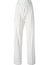 Wood Wood Pinstriped 'Penny' Trousers White
