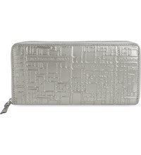 Comme Des Garcons Embossed Purse Silver