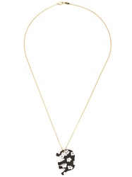 Marc Alary 18Kt Gold Elephant Pendant Necklace Metallic