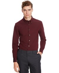 Kenneth Cole Reaction Dobby End On End Long Sleeve Shirt