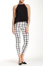 Hip Textured Windowpane Legging White