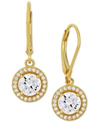 Macy's Giani Bernini Cubic Zirconia Halo Drop Earrings In Sterling Silver Or 18K Gold Over Sterling Silver