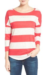 Women's Tommy Bahama 'Landers' Stripe Three Quarter Sleeve Tee