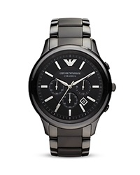 Emporio Armani Black Ceramic Watch 47Mm