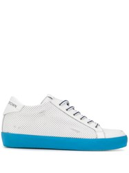 Leather Crown Classic Lo Top Sneakers White