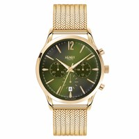 Henry London Men's Chiswick Chronograph Stainless Steel Bracelet Watch Gold Green