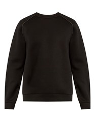 Alexander Wang Raglan Sleeved Neoprene Sweatshirt Black