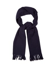 A.P.C. Wool And Cashmere Blend Scarf Navy