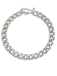 Design Lab Lord And Taylor Chain Link Necklace Silver