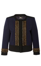 Alberta Ferretti Embellished Evening Jacket Stripe