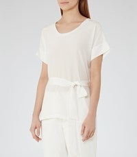 Reiss Bonn Womens Silk Front Top In White