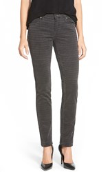 Kut From The Kloth 'Diana' Houndstooth Print Stretch Corduroy Skinny Pants Charcoal