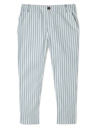 Dash Ticking Stripe Crop Trouser Multi Coloured Multi Coloured