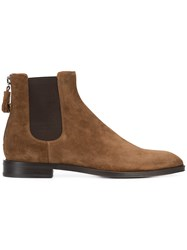 Givenchy Chelsea Boots Men Calf Leather Leather Rubber 43 Brown
