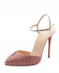 Christian Louboutin Baila Spike Red Sole Pump Poudre Bronze Poudre Bronze Ros
