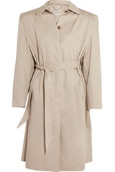Balenciaga Cotton Twill Trench Coat Beige