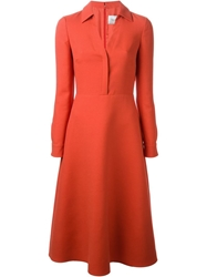 Valentino A Line Shirt Dress Yellow And Orange