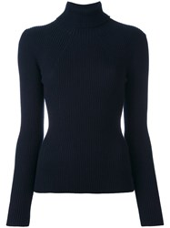 3.1 Phillip Lim Ribbed Roll Neck Jumper Blue