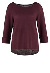 Comma Jumper Cranberry Dark Red