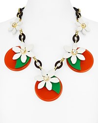 Kate Spade New York Floral Statement Necklace 22 Orange Multi