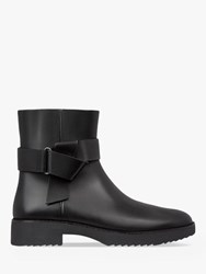 Fitflop Knot Detail Leather Ankle Boots Black