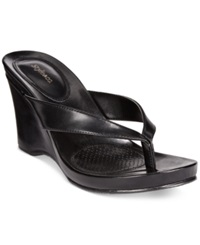 Style And Co. Chicklet Wedge Sandals Women's Shoes