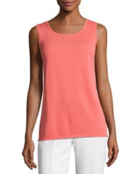 Lafayette 148 New York Cotton Blend Knit Tank Pink