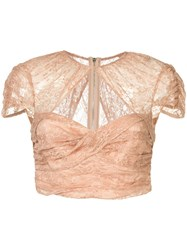 Alice Mccall Sweetly Cropped Top Nude And Neutrals