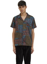 James Long Paisley Short Sleeved Shirt Black