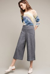 Anthropologie Cropped Boucle Wide Legs Grey