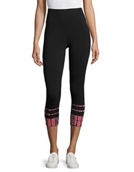 Calvin Klein Abstract Printed Cropped Leggings Pink