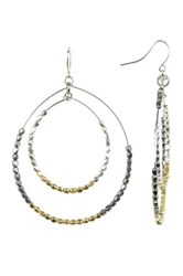 Spring Street Mixed Metal Layered Teardrop Hoop Earrings Multi