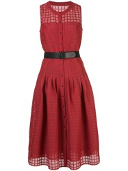 Akris Punto Cut Out Belted Dress 60