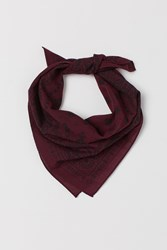 Handm H M Paisley Patterned Scarf Red