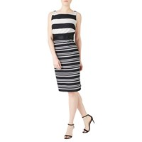 Precis Petite Josie Stripe Shift Dress Black White