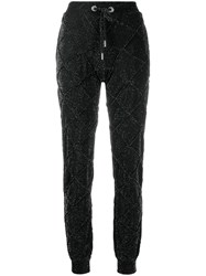 Philipp Plein Glitter Sweatpants Black
