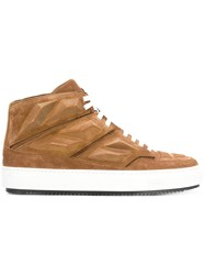 Alejandro Ingelmo Panelled Hi Tops Calf Suede Leather Rubber Brown