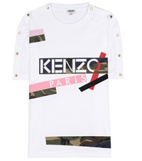 Kenzo Embellished Cotton T Shirt White