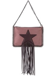 Stella Mccartney 'Falabella' Fringed Clutch Pink And Purple