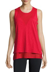Marc New York Open Back Mesh Tank Top Patriot