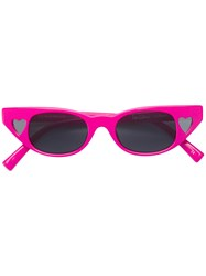 Le Specs Cat Eye Shaped Sunglasses Pink And Purple