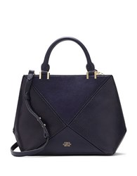 Vince Camuto Akua Leather Satchel Bag Peacoat