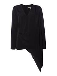 Label Lab Malba Black Asymmetric Blouse Black