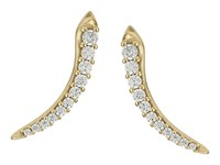Kendra Scott Whit Climber Earrings Gold Metal With White Cz Earring